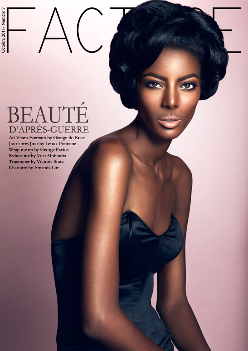 Lenox Fontaine Beauty Cover of Factice Magazine
