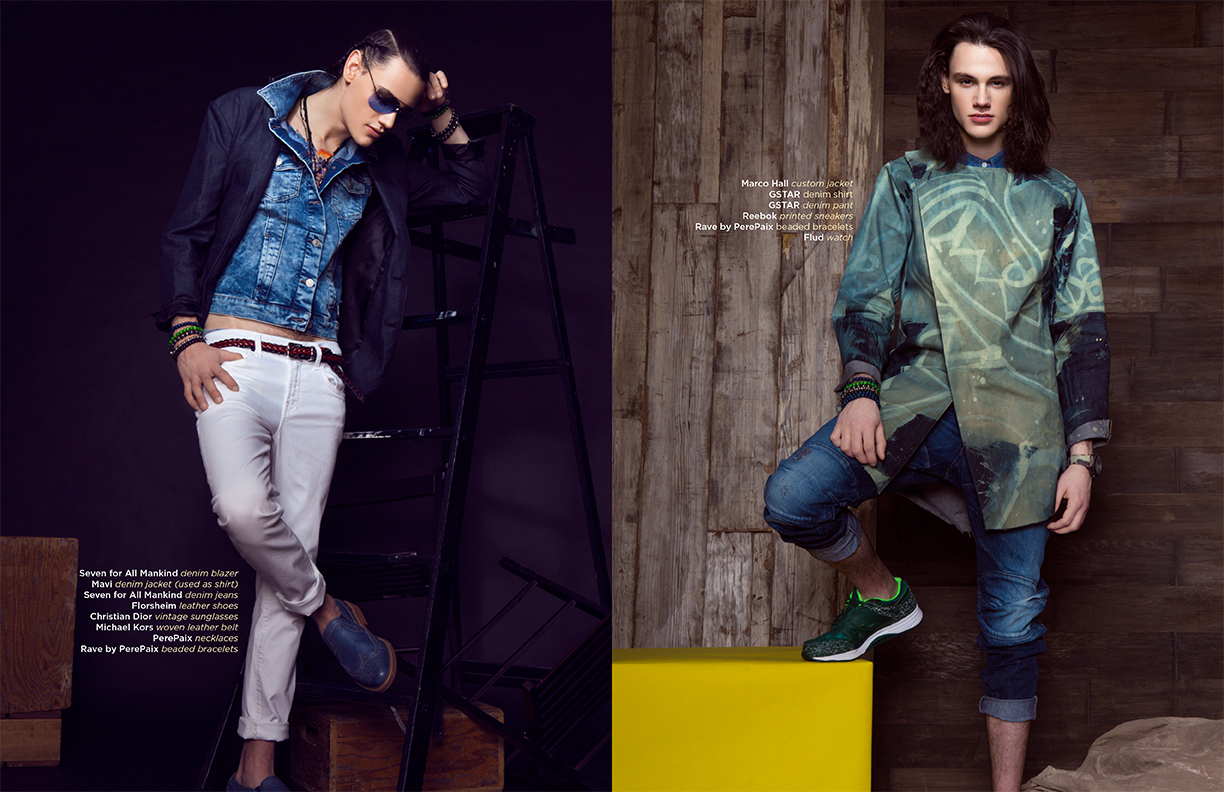 Lenox Fontaine YRB Magazine Denim Shoot 2