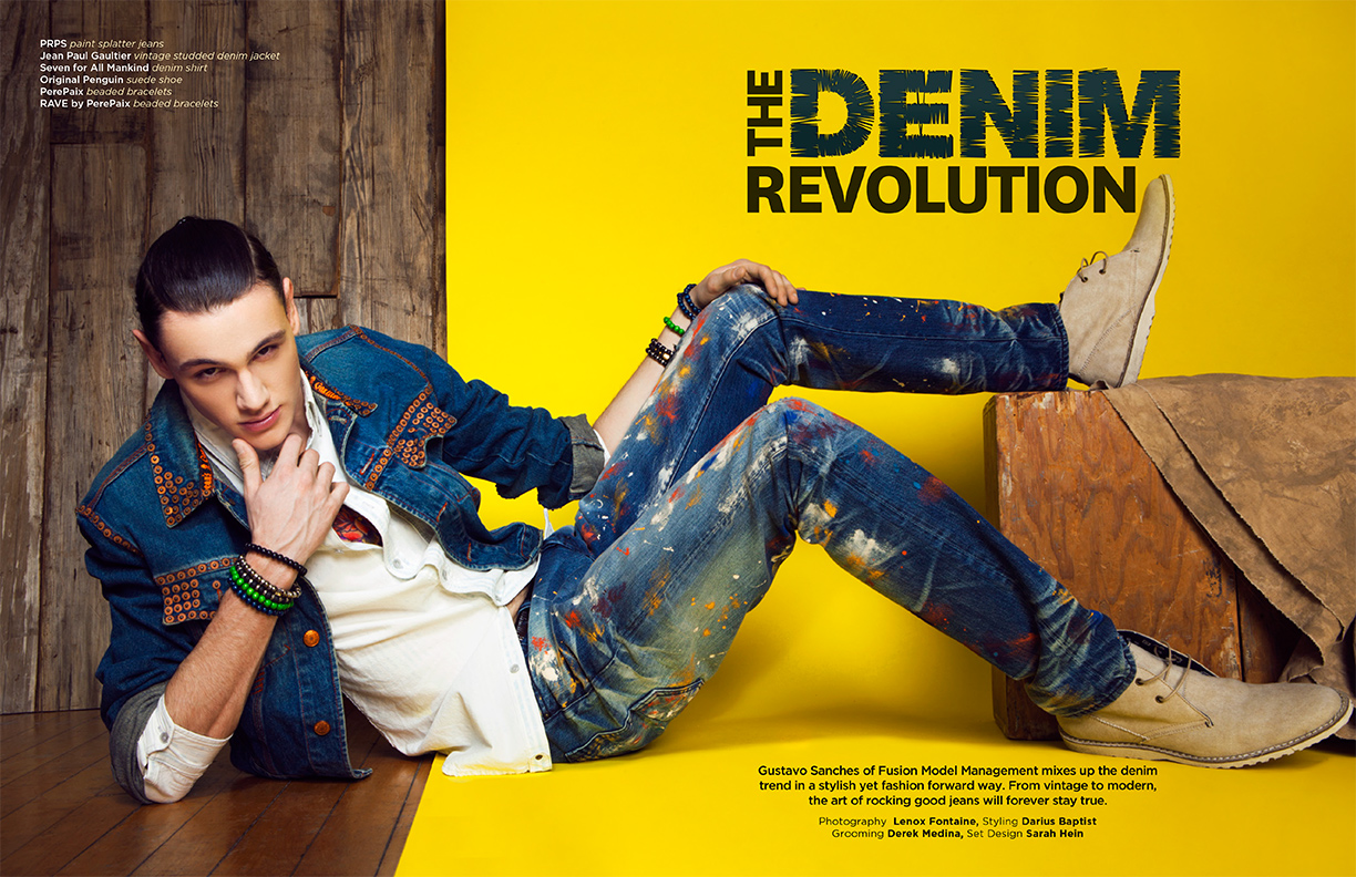 Lenox Fontaine YRB Magazine Denim Shoot1